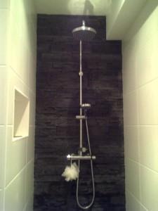 De nieuwe douche